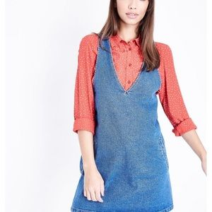 Hayden Los Angeles Short Pinafore Denim Dress